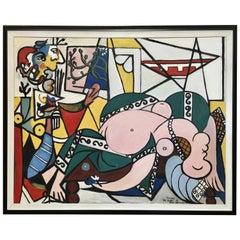 Picasso Style Painting by Ellen Schraeder