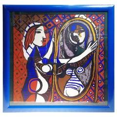 Picasso Unique Framed Scarf, circa 1960