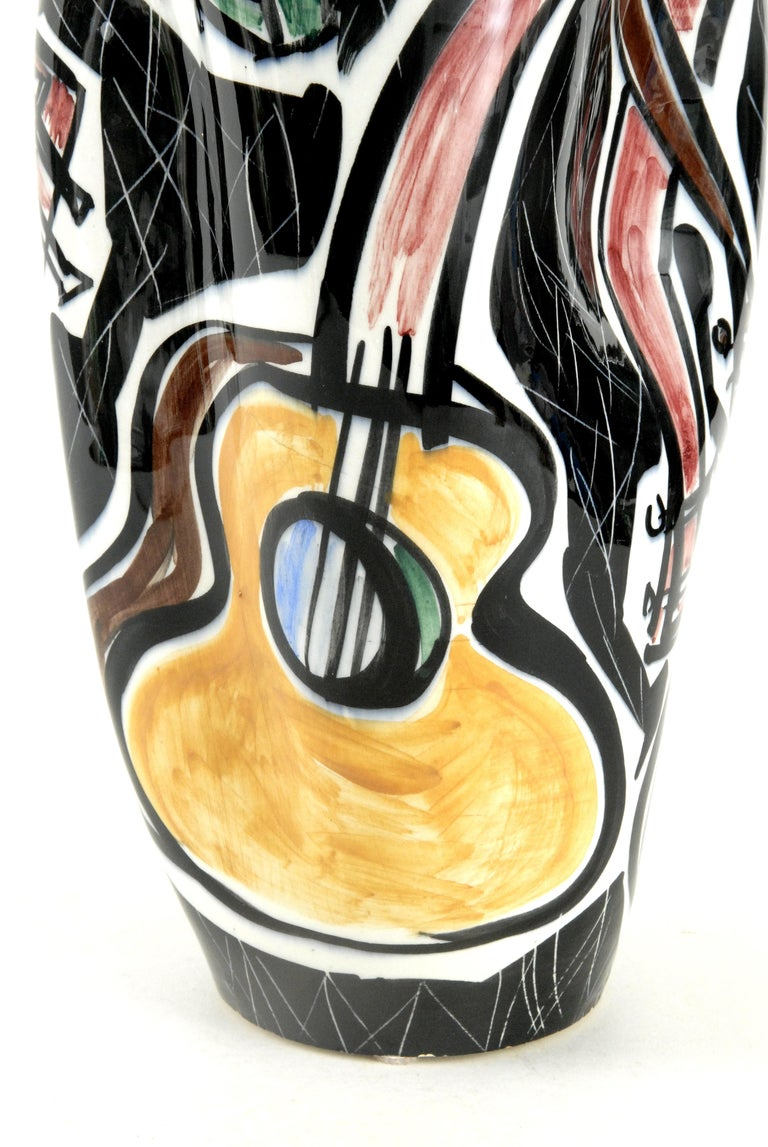 Mid-20th Century Picasso Vase Guitars Ceramico Titano San Marino, Italy, circa 1960 For Sale