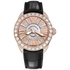 Piccadilly 37 Luxury Diamond Watch for Women, Rose Gold
