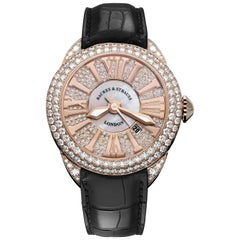Piccadilly 40 Luxury Diamond Watch for Men and Women, Rose Gold