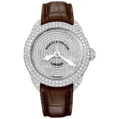 Piccadilly 45 Luxury Diamond Watch for Men and Women, White Gold