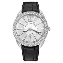 Piccadilly Renaissance 33 Luxury Diamond Watch for Women, White Gold