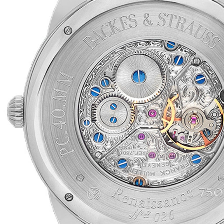 Round Cut Piccadilly Renaissance 40 Luxury Diamond Watch Men's and Women, White Gold For Sale