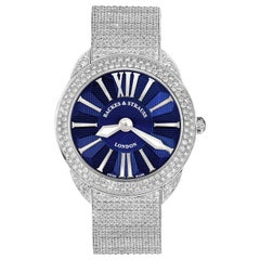Piccadilly Renaissance 40 Luxury Diamond Watch Men and Women, White Gold