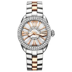 Piccadilly Steel 37 SP Luxury Diamond Watch for Women, Stainless Steel