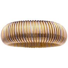 Picchiotti 18 Karat Tricolor Gold Tubogas Bangle Bracelet