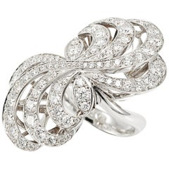 Picchiotti 18K White Round Diamond Cocktail Ring
