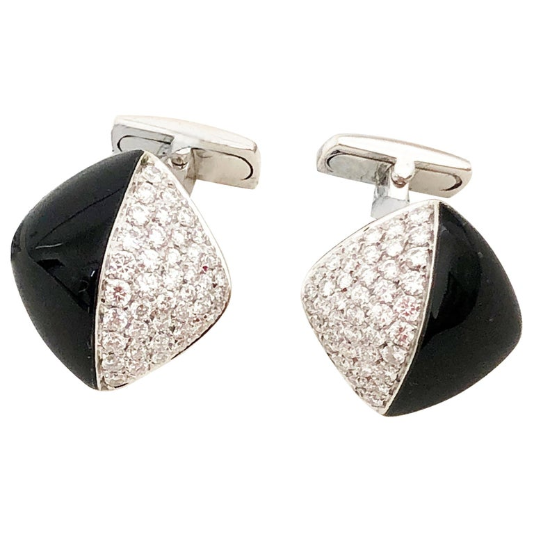 Picchiotti Cufflinks in 18 Karat White Gold For Sale
