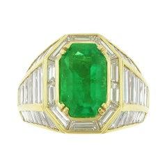 Picchiotti Emerald and Diamond Gold Ring