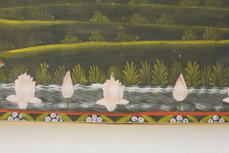 Pichhwai Hindu Painting of Krishna with Dancing Gopis For Sale 5