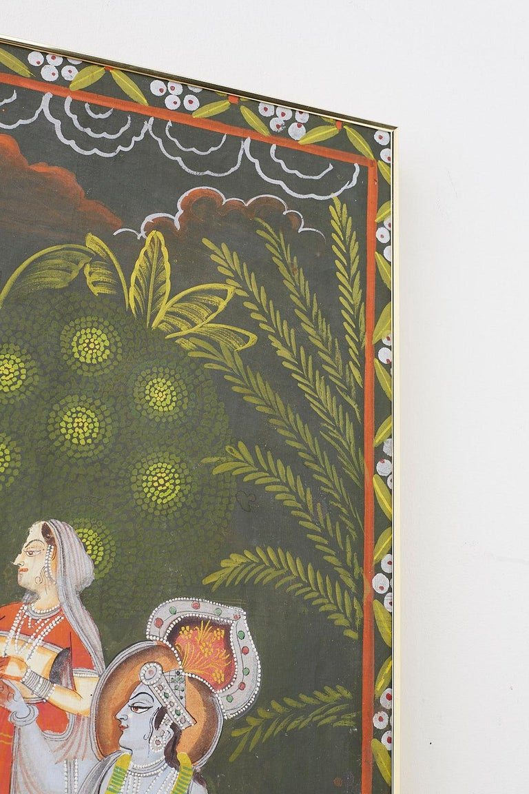 Pichhwai Hindu Painting of Krishna with Dancing Gopis For Sale 8