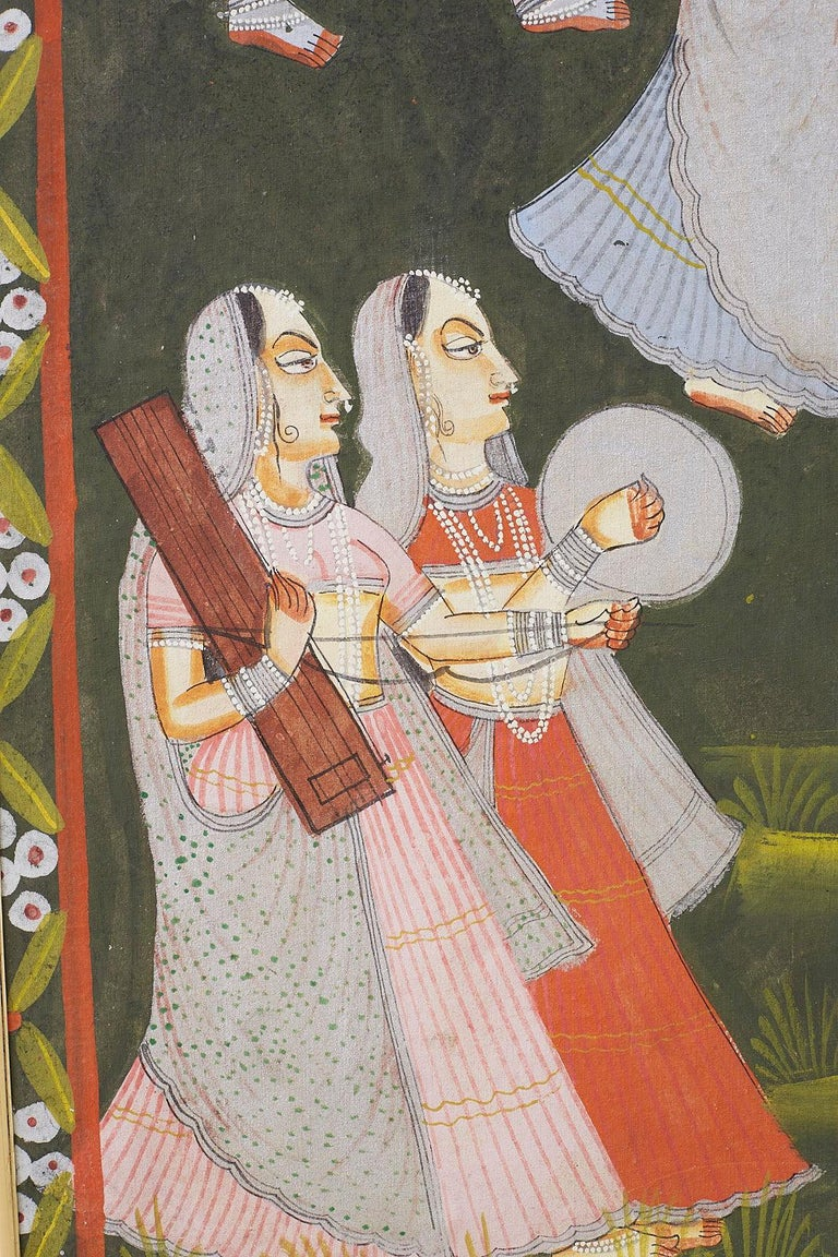 Pichhwai Hindu Painting of Krishna with Dancing Gopis For Sale 1