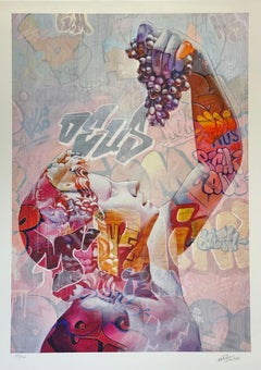 """Pichiavo """"Young Bacchus Lefkos"""" Signed & Numbered UV Flashlight Street Art Spain"""
