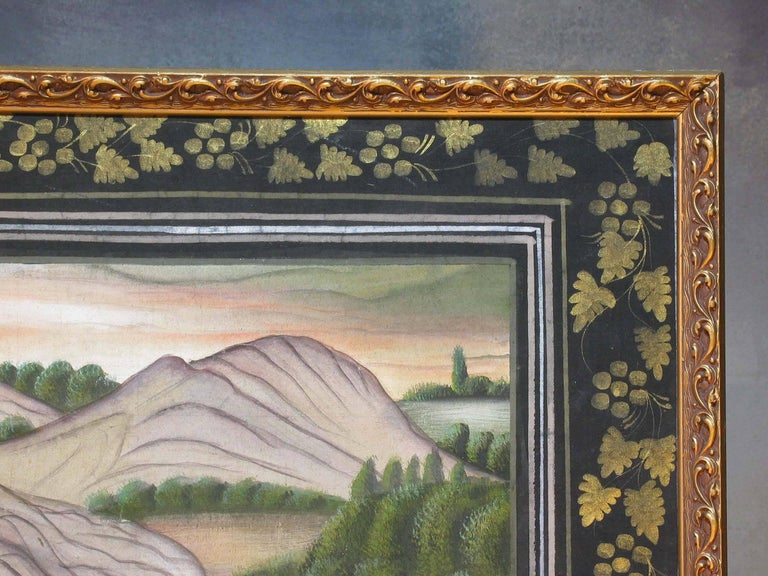 Indian Pichwai Painting in Finally Detailed Decorated Frame For Sale