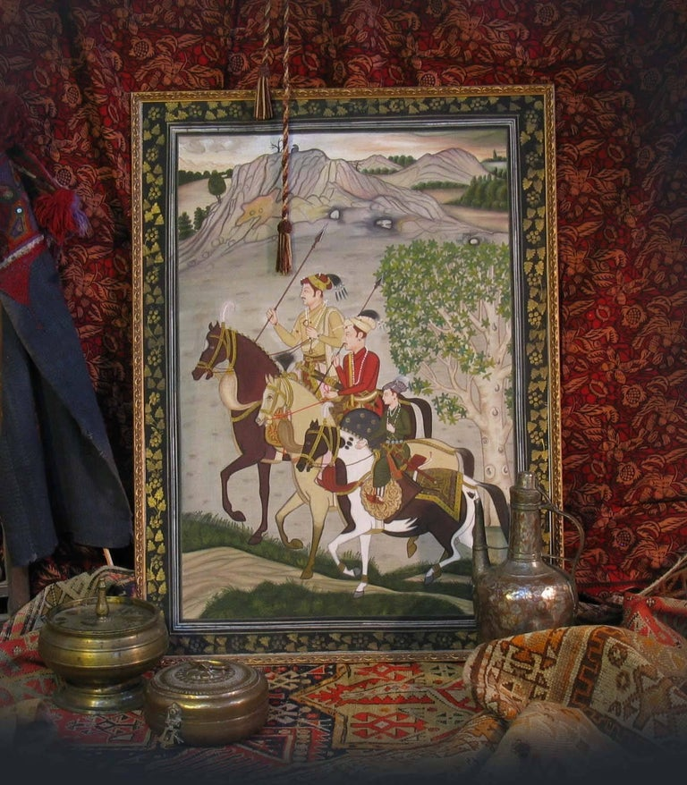Pichwai Painting in Finally Detailed Decorated Frame In Good Condition For Sale In Ottawa, Ontario
