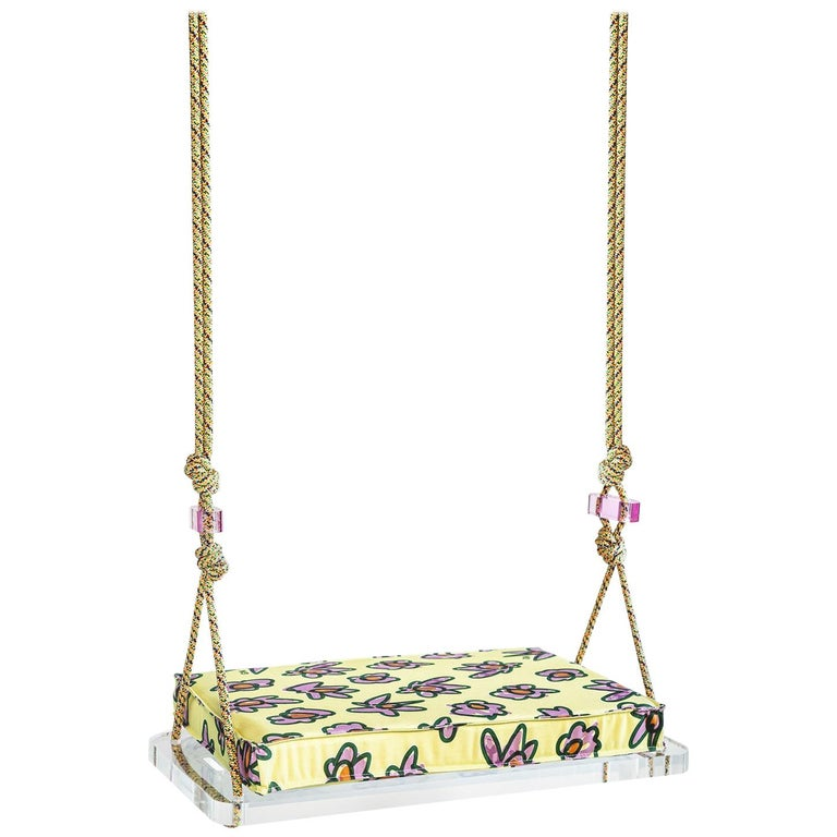 Pick-Me-Up Swing, Single Seater in Organic Drill For Sale