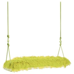Pick-Me-Up Indoor Swinging Bench in Chartreuse