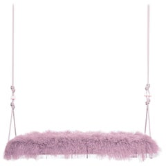 Pick-Me-Up Swinging Bench in Rose Quartz