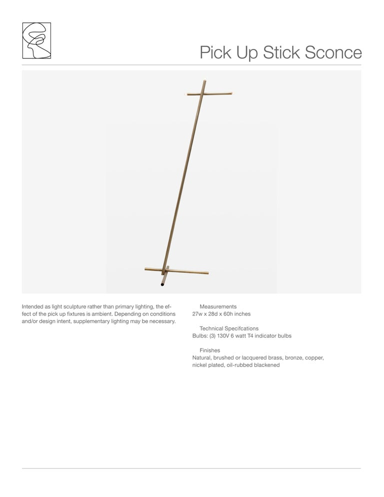 American Pick Up Stick Floor Lamp in Brass by Cam Crockford For Sale