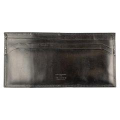 PICKETT Black Leather Card Case Wallet