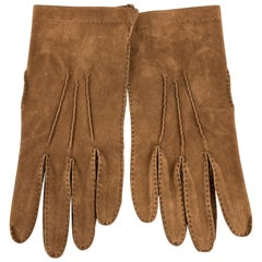 PICKETT Vintage Size 9 Brown Calf Skin Sueded Leather Gloves