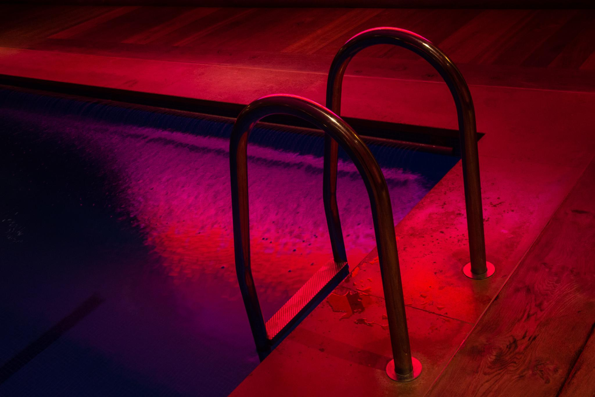 Magenta Swimming - Vibrant Noir Photography
