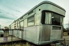Photograph - Silver Trailer, Marfa Texas