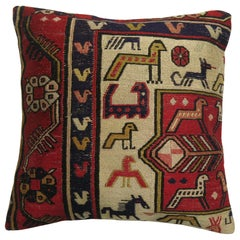 Pictorial Folk Art Soumac Pillow