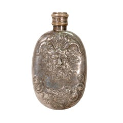 Pictorial Gentleman's Silver Flask