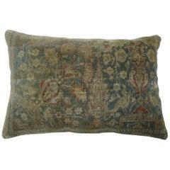 Pictorial Mohtasham Kashan Persian Rug Lumbar Pillow