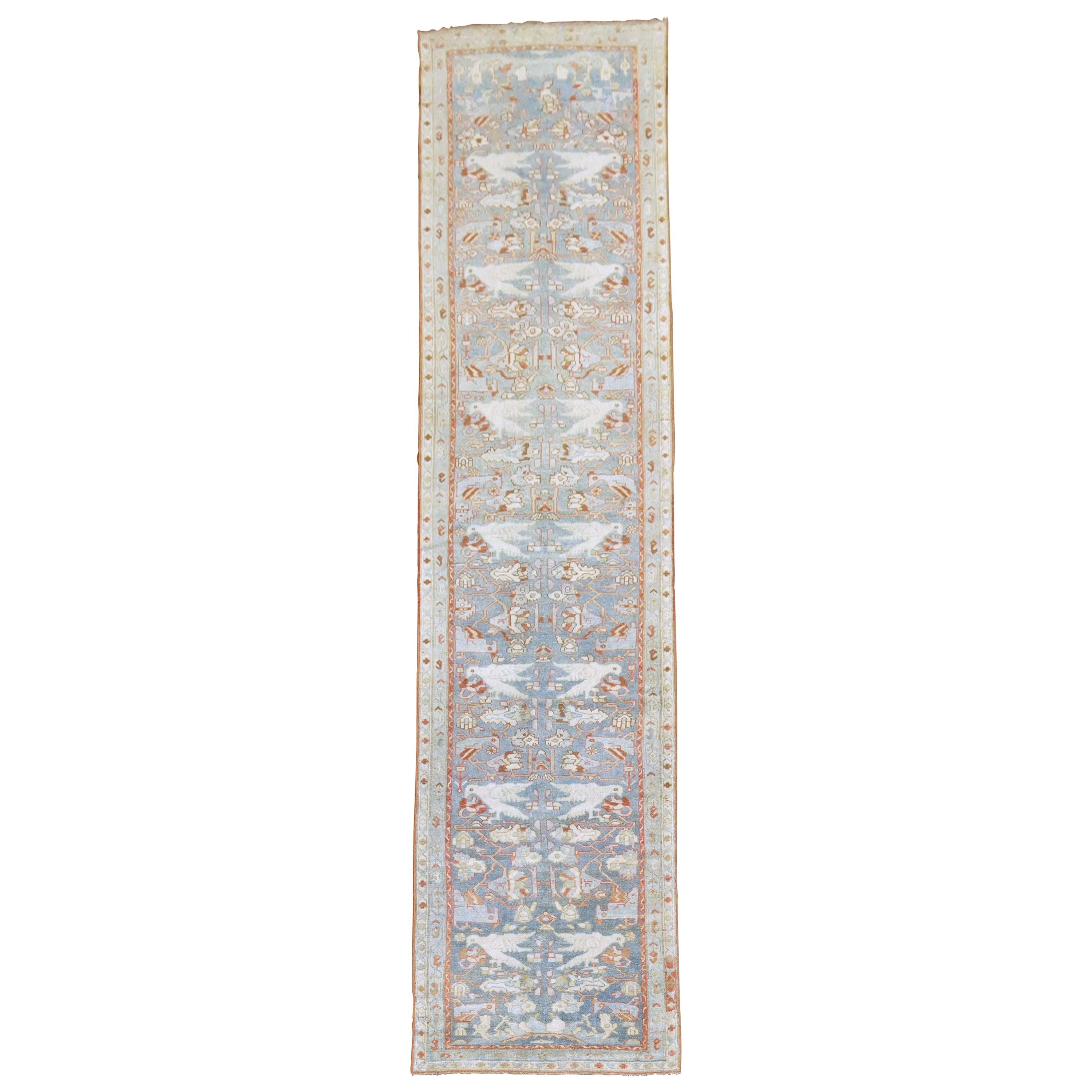 Pictorial Persian Blue Pigeon Malayer Runner
