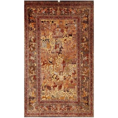 Pictorial Rug 'Tapestry' Carpet, Hand-Knotted, Bridal Couple, Generals, Poets