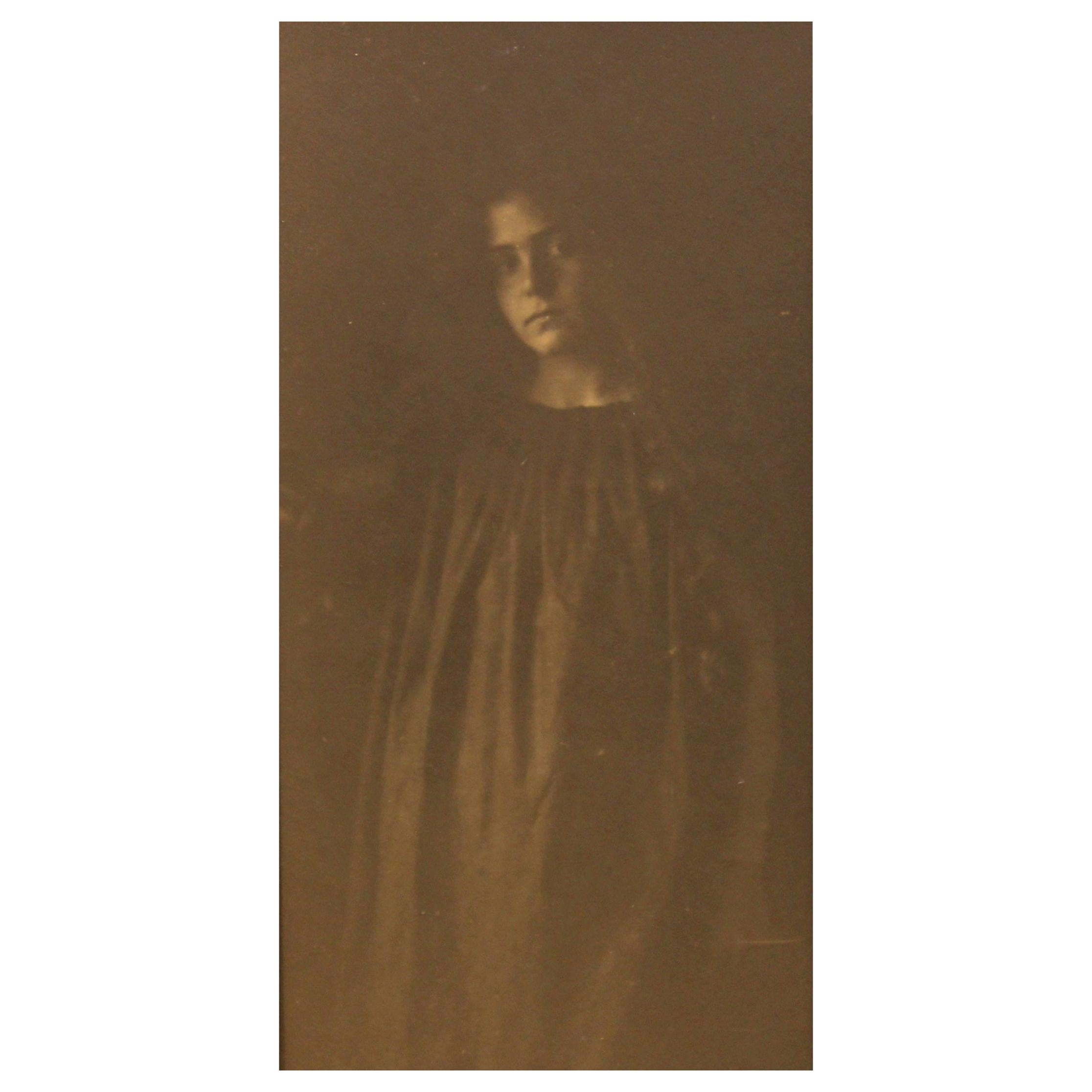 """Pictorialist Photography, """"Pensive Woman"""""""