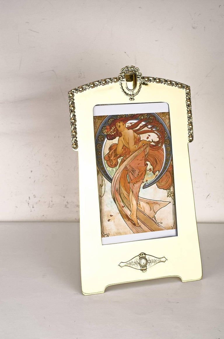 Picture frame by Argentor, circa 1908 Polished and stove enameled.