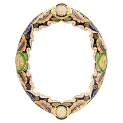 Picture Frame Diamond, Sapphire and Enamel