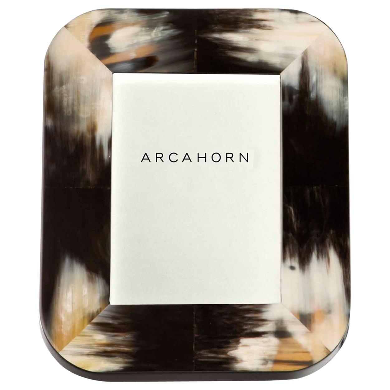 Picture Frame in Dark Corno Italiano and Glossy Black Lacquered Wood, Mod. 4010