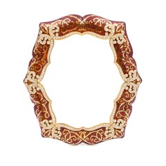 Picture Frame Red Enamel and Diamond