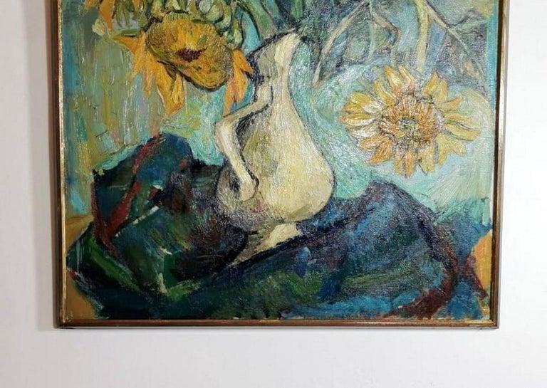 Mid-Century Modern 20th Century Oil on Canvas