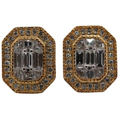 Pie Cut 0.62 Carat Diamond Earring Studs