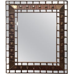 Pieced Inset Mirrors on Gold Gilt Framed Mirror, Spain, 1950s