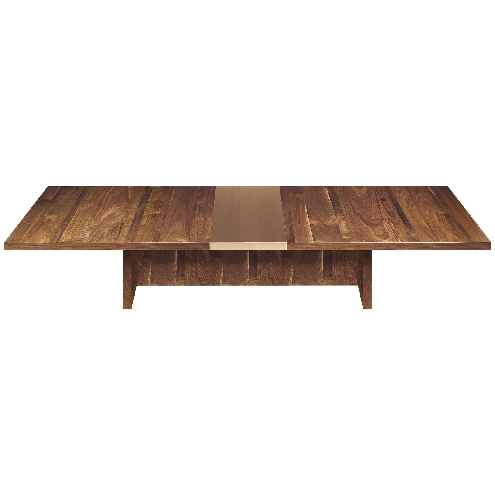 """""""Piedmont"""" Dining Table in Walnut and Bronze"""
