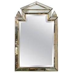 Piedmont Hollywood Regency Style Venetian Mirror Clear Center