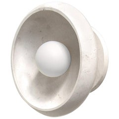 Piedra Collection, Hand Carved Travertine Marble Sconce