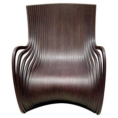 Piegatto Pipo Wenge Wood Lounge Chair