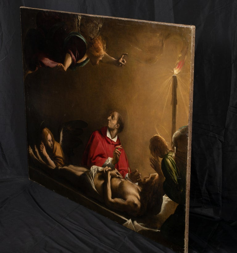 The Lamentation Of The Death Of Christ, 17th Century  - Renaissance Painting by Pier Francesco Mazzucchelli