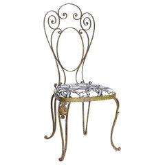 Pier Luigi Colli Italian Mid Century Hammered Brass Chair, 60's