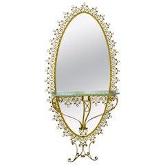Pier Luigi Colli Mid-Century Modern Italian Hallway Mirror, 1950s