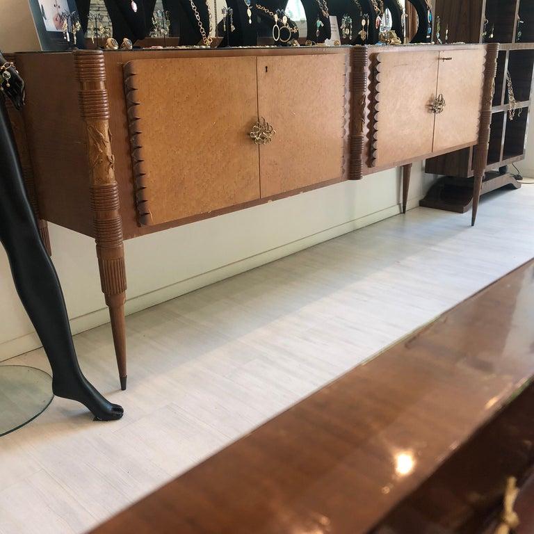Pier Luigi Colli Mid-Century Modern Maple Wood Italian Sideboard, circa 1950 7