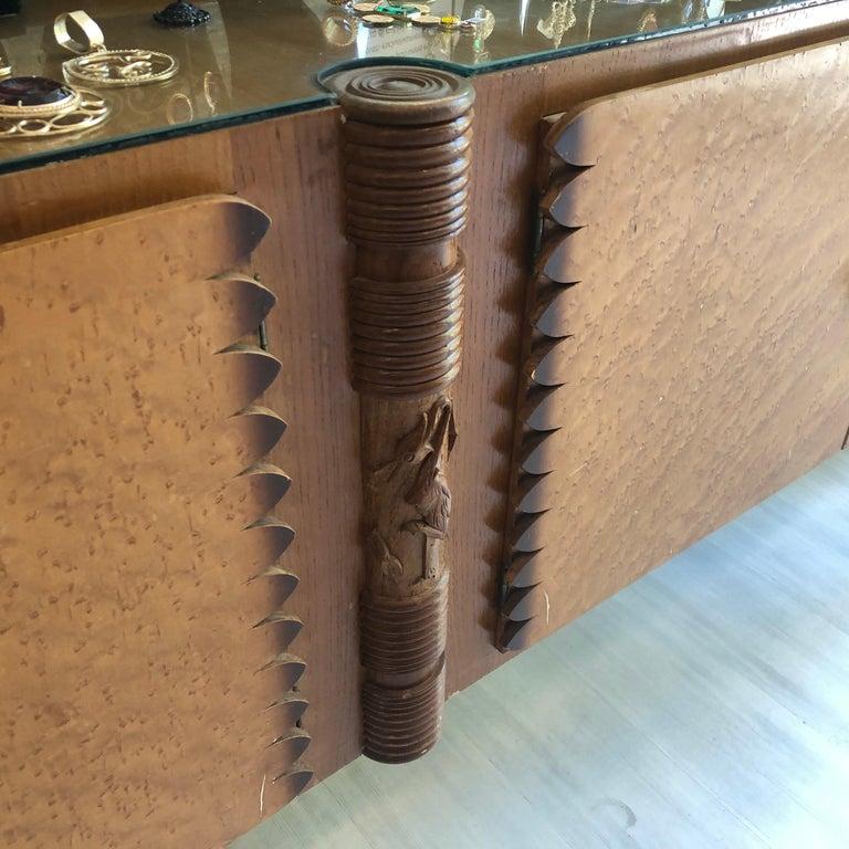 Pier Luigi Colli Mid-Century Modern Maple Wood Italian Sideboard, circa 1950 1